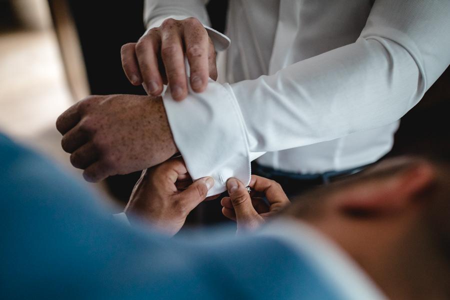 Bräutigam und Trauzeuge