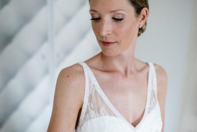 Braut Getting Ready Hochzeit